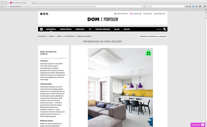 Mieszkanie na dwa kolory, Dom z pomysłem-0